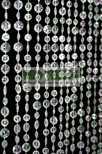 Bead curtain - lighting changes color  would be great against a wall for decoration