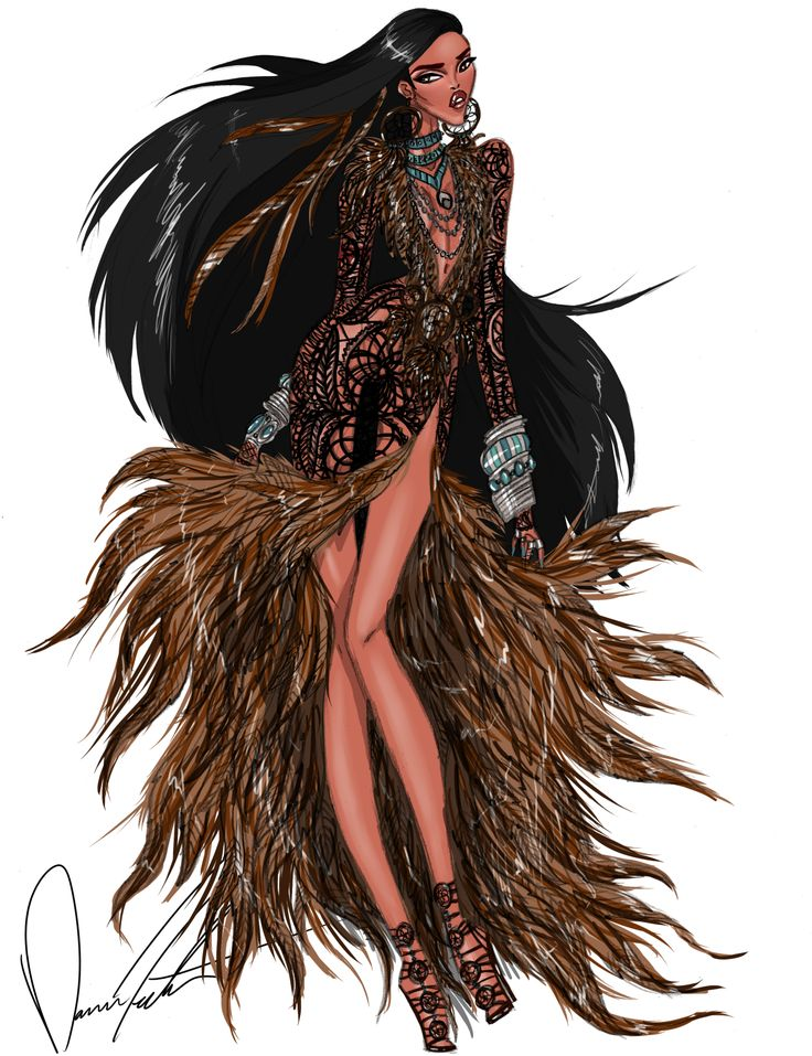 daren-the-designer-j:  Disney fashion frenzy, pocahontas, Following her path by Daren J