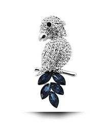 Diamond Owl Shape Design Silver Color. Fashionable with passion REPIN if you like it.😍 Only 65 IDR