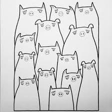 """Résultat de recherche d'images pour """"cute pig pencil drawing"""""""