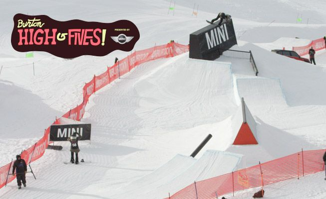 Mark McMorris, Yiwei Zhang, Alek Oestreng, Roope Tonteri, Chloe Kim, and 60 of the world's best riders were just down in New Zealand for the Burton High Fives Presented by MINI. Check out the best moments from pipe and slopestyle all boiled down into 4 minutes of highlights.
