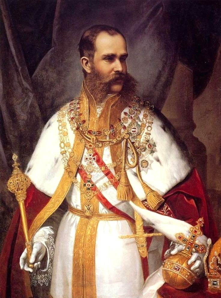 H.I.R.M. Emperor Franz Joseph I of Austria, King of Hungary (1830-1916) by Schrotzberg - Franz Joseph was troubled by nationalism during his entire reign. He concluded the Ausgleich of 1867, which granted greater autonomy to Hungary, hence transforming the Austrian Empire into the Austro-Hungarian Empire under his dual monarchy.