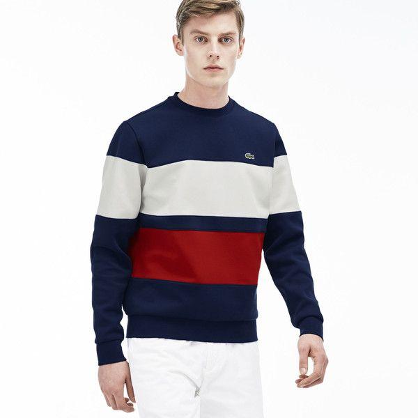 Lacoste Men's Color Block Fleece Sweatshirt ($145) ❤ liked on Polyvore featuring men's fashion, men's clothing, men's hoodies, men's sweatshirts, sweatshirts sweatshirts, mens sweatshirts and hoodies, mens sweatshirts, mens crew neck sweatshirts, mens fleece sweatshirts and mens crewneck sweatshirts