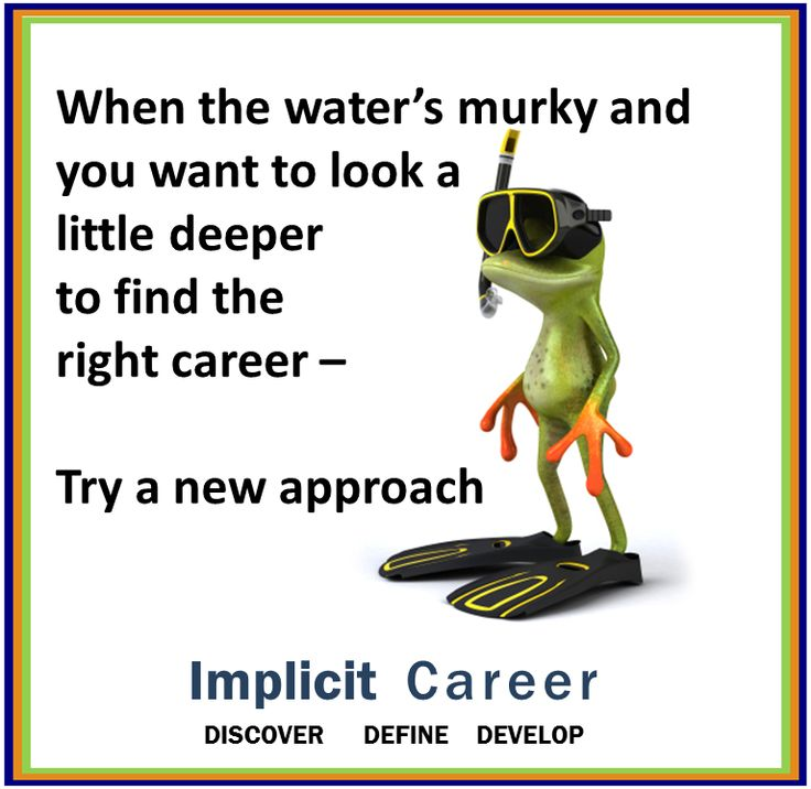 Frog #wisdom....murky waters  #career #humor