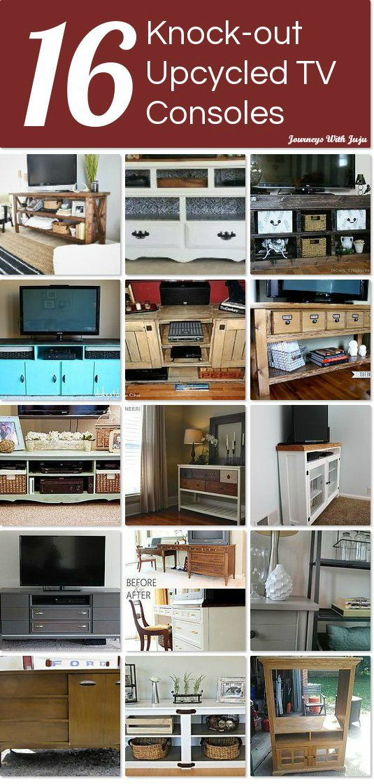 16 Knock-out upcycled TV consoles