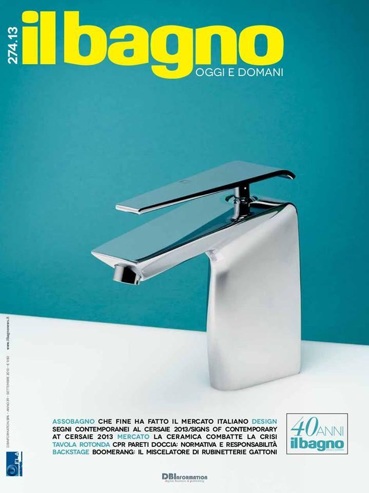 Iniziamo bene ! La copertina di Bagno Design è Boomerang: design Marco Piva, inside technology Gattoni