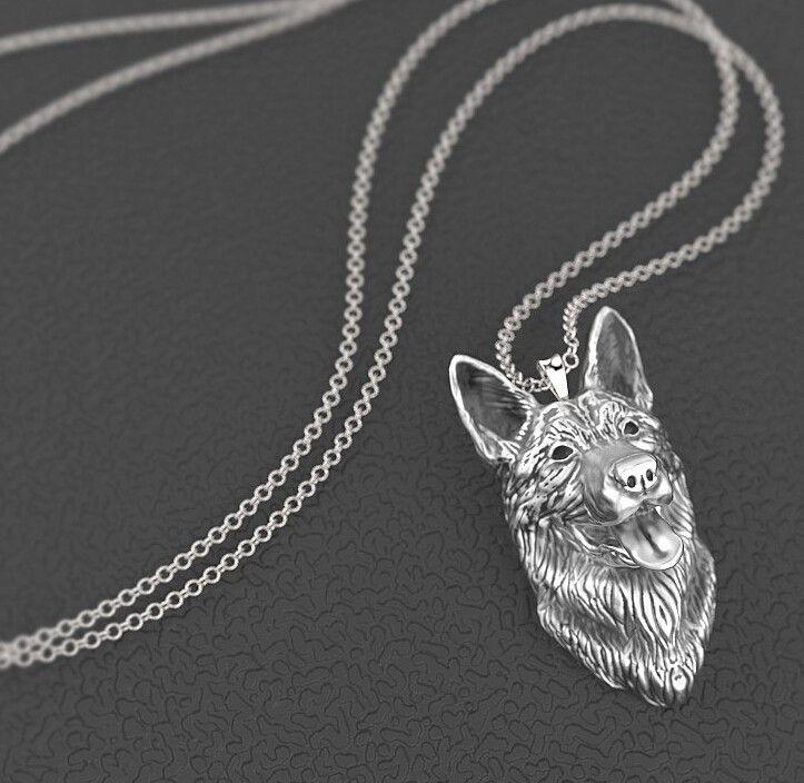 Unique German shepherd Metal necklace