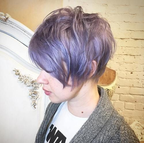 Like the cut... Love the purple but I can't pull that off!