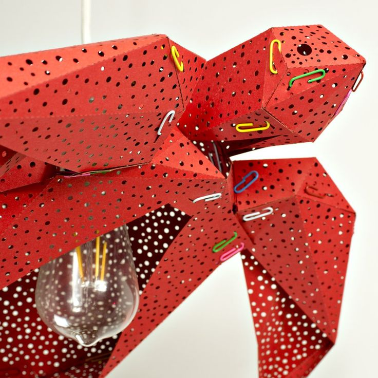 Sea Turtle Light Shade Hot Red - STUDIO POP OBJECT #studiopopobject #popobject #animallamp #seaturtle #turtle #origami #lamp #light #paper #paperlamp #handmade #madeofpaper  #lampdesign #lampshade #pendantlamp #lightingdesign #homedecor #minimaldesign #creativeminds #minimalistic #minimal #minimallove #interiordesign #nordicinspiration #scandinavianstyle #nordicdesign #childrenroom #kidsroom #kids #nurserydecor #nurserylamp