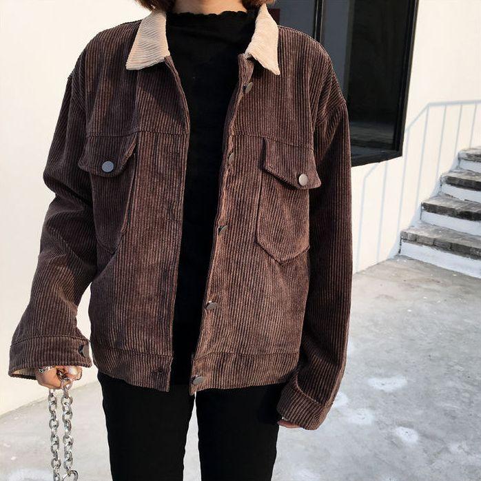 Jolly Club – Corduroy Button Jacket | kfashion, aesthetic fashion, korean fashio…