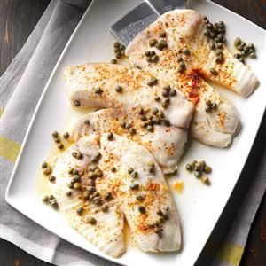 Baked Tilapia Recipe -I've decided to cook healthier for my family, and that includes having more fish at home. This is a great recipe, and it's fast, too! —Hope Stewart, Raleigh, North Carolina