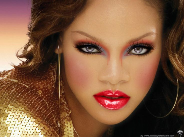 """""""RIHANNA"""" created using TAAZ Virtual Makeover. Try on Hairstyles, Makeup, and color your own hair. It's free!"""