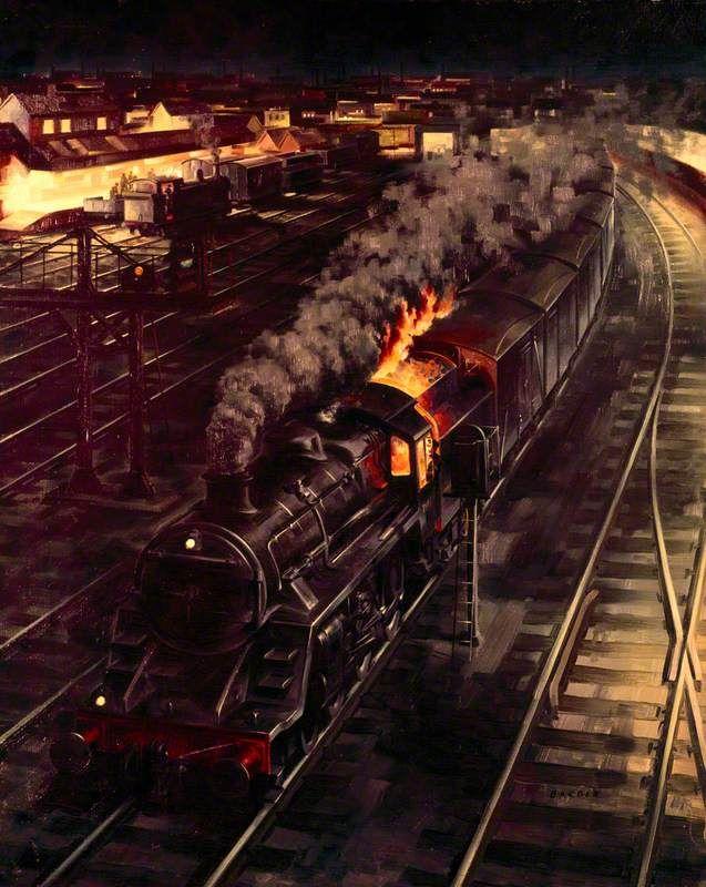 Express Freight (British Railways poster artwork) by Barber