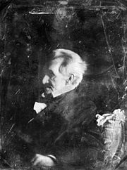 Daguerreotype of Andrew Jackson at age 77 or 78 (1844 or 1845).  Amazing to think that we can actually see Old Hickery.