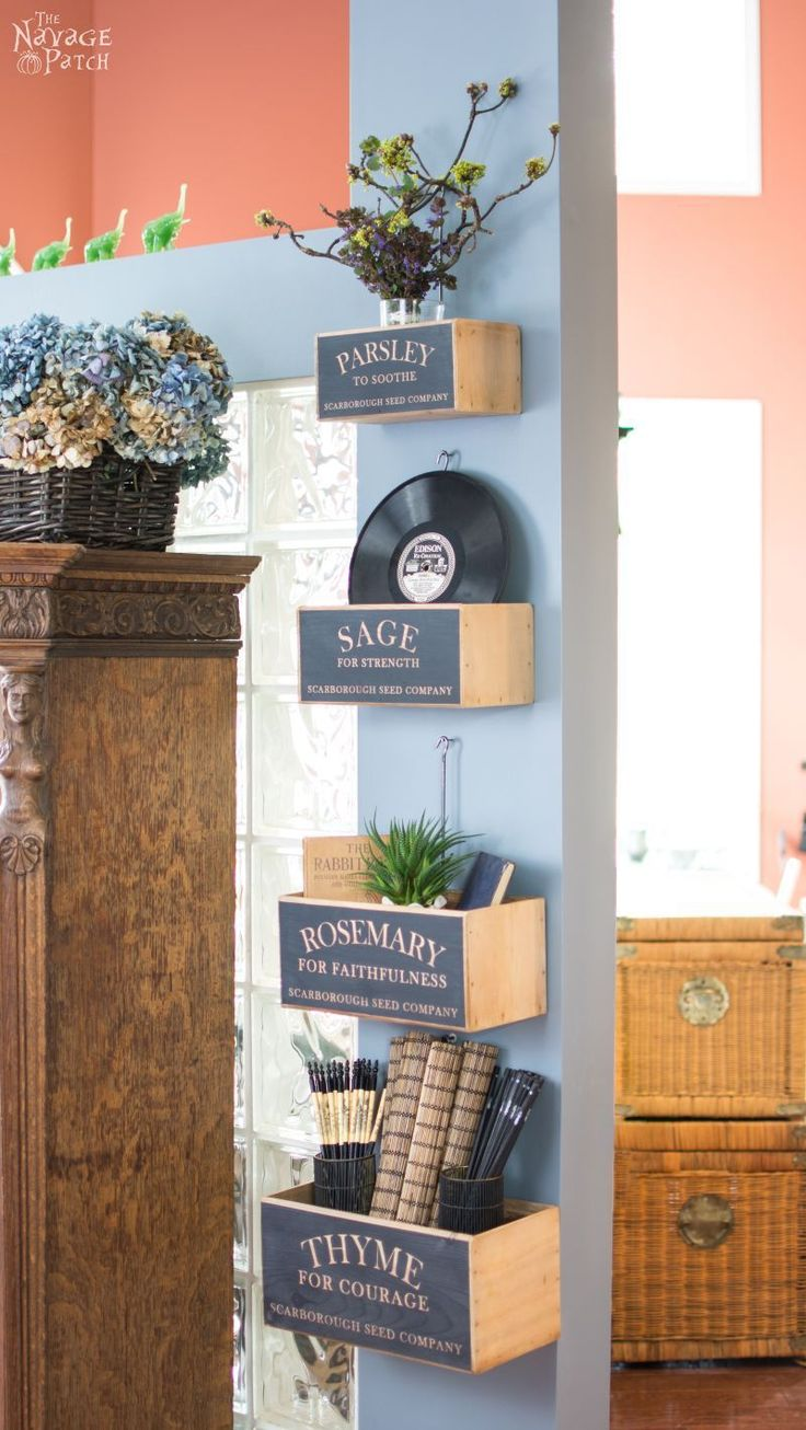291 best decor crate crazy images on pinterest farmhouse diy nesting herb boxes