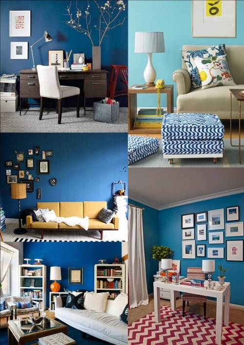 One day when I have my own dream home I will have a dreamy blue wall again and I will decorate it with pictures in white frames and yellow flowers. That is all.