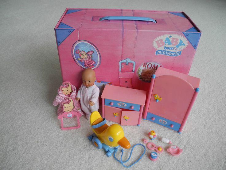 Baby Born miniworld  Koffer, Puppe und reichlich Zubehör