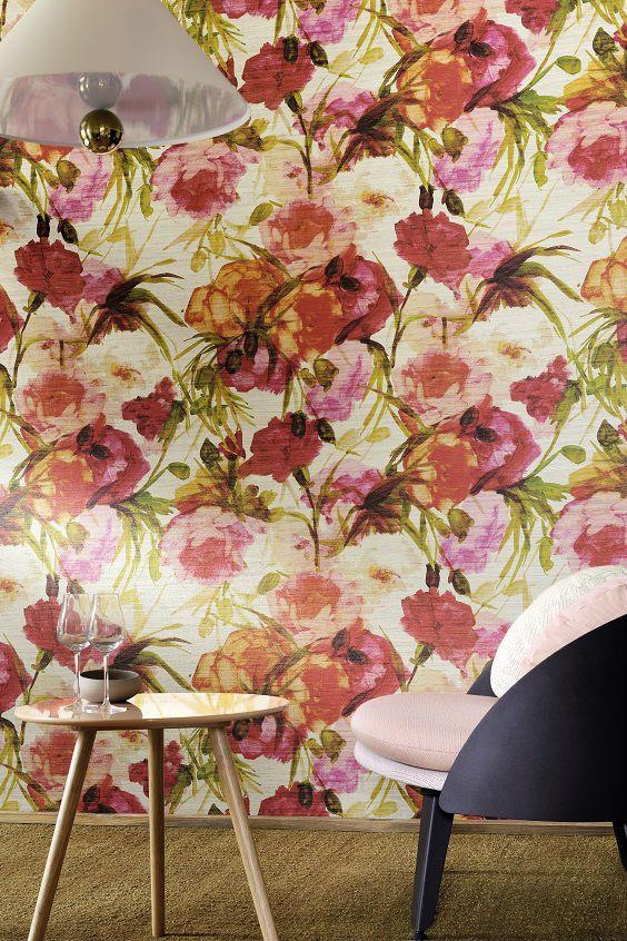 Talamone, the name has a sweet-sounding air of Dolce Vita.  #talamone #unabellastoria #wallpaper #interior #elitis