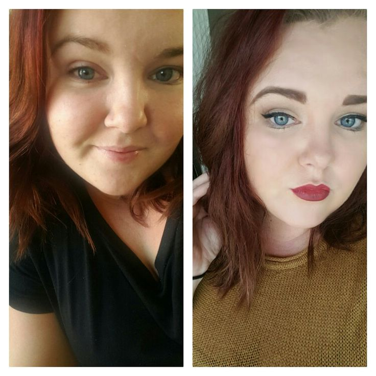 Me. Before and after makeup