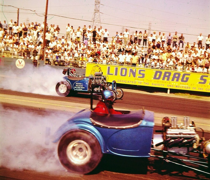 Two altered Bantam roadsters Racing at Lyons Drag Strip early 70's          I loved racing at Lyons in the 60's 5.00 bought a race, hot dog an a coke.