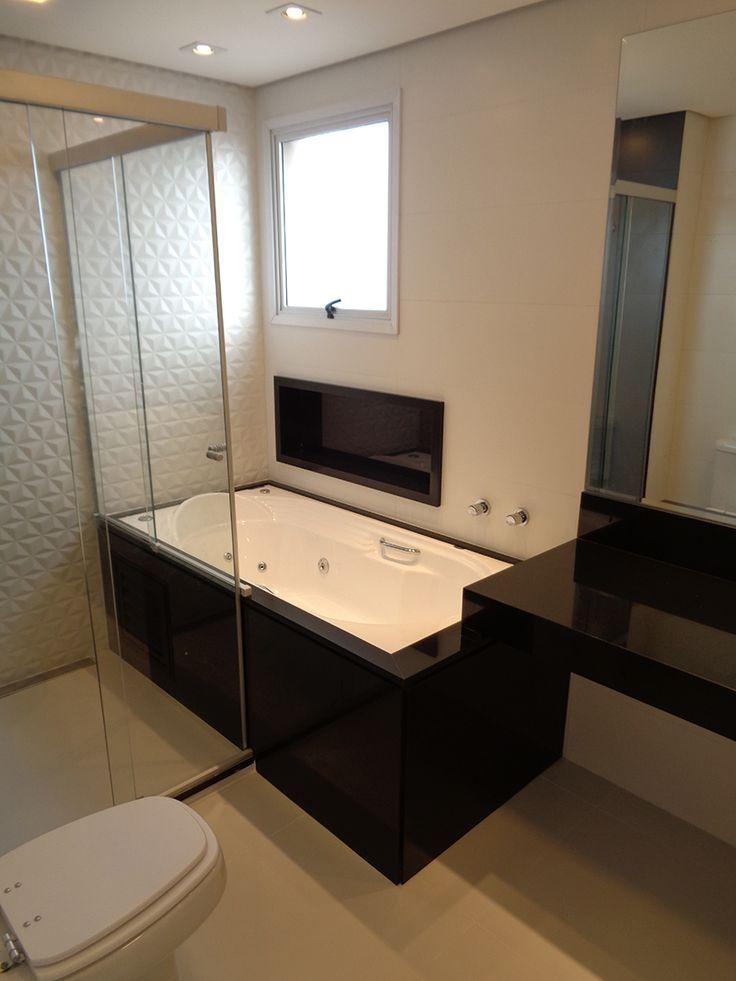 25+ parasta ideaa Granito Preto Absoluto Pinterestissä  Granito preto,Preta -> Banheiro Com Banheira Preta