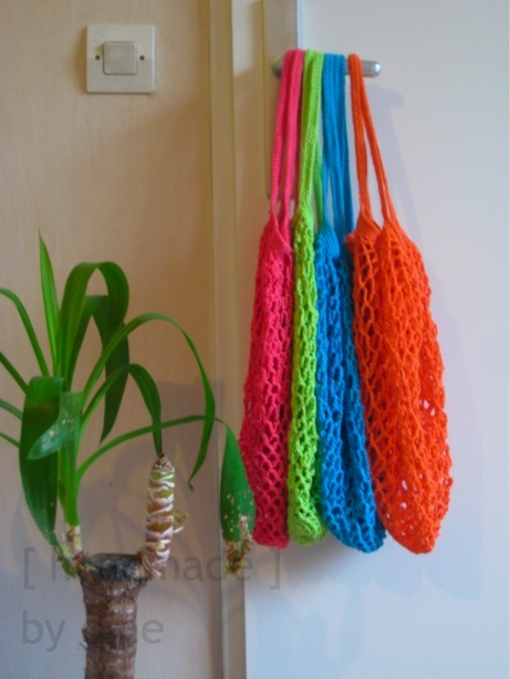 Knitting Pattern Mesh Bag : Crochet mesh shopping bags Knit & Crochet: Bags Pinterest Bags, Cro...