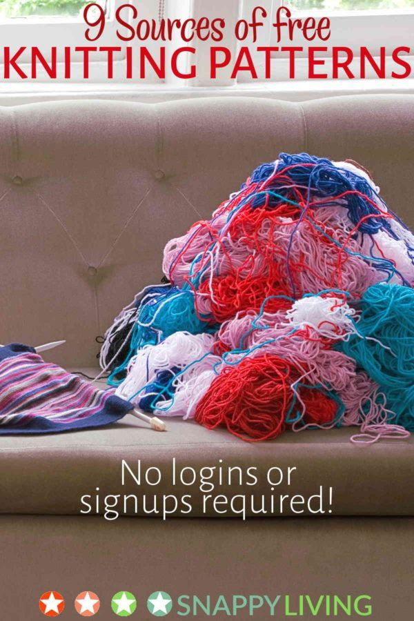 Finding free knitting patterns online can be a hassle. I've found these great websites that offer terrific free knitting patterns, with no logins or signups. You'll love them!!