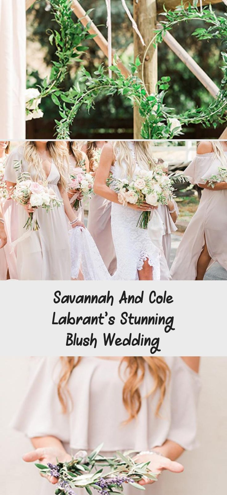 Savannah and Cole LaBrant's Stunning Blush Wedding - Inspired By This #SageBridesmaidDresses #PlumBridesmaidDresses #BridesmaidDressesCoral #TaupeBridesmaidDresses #MixAndMatchBridesmaidDresses