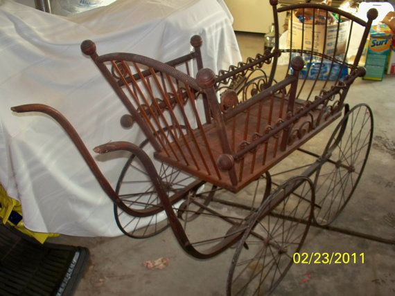 "victorian baby strollers | Victorian GENDRON Baby Carriage Stroller Baby buggy from 1870""s."