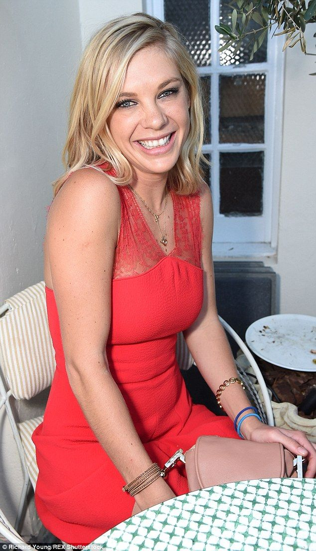 Ladylike: Prince Harry's ex-girlfriend Chelsy Davy wowed in a red lace dress at the South ...