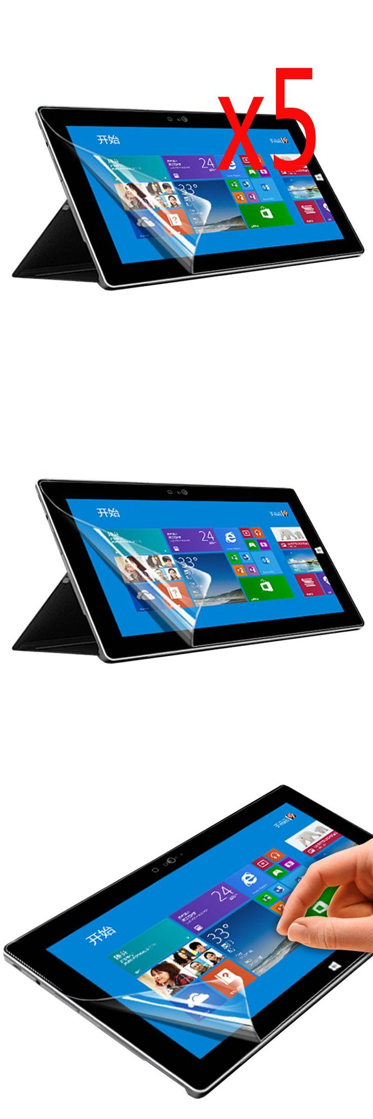 """[Visit to Buy] 5x Films + 5x Clean Clothing , Anti-Glare Matte Screen Protector Protective Film Guards For Microsoft Surface Pro 4 Pro4 12.3"""" #Advertisement"""