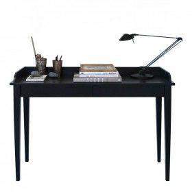 Oliver Furniture Konsolentisch schwarz, kann auch als Schreibtisch genutzt werden.