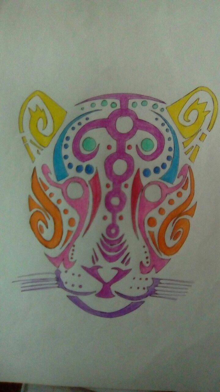 Tribal leopard drawing
