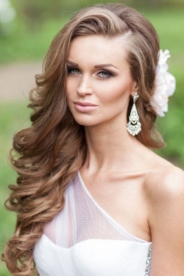 Best Hairstyles For Long Hair Wedding Hair Fashion Style: Best 25+ Side Curls Ideas On Pinterest