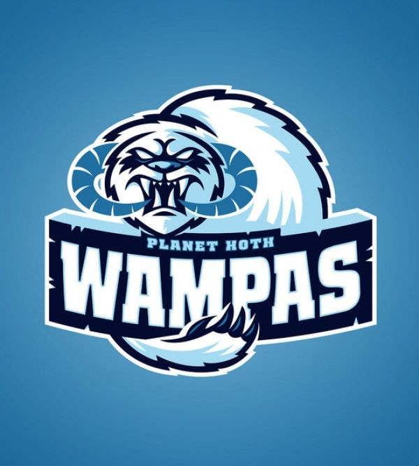 STAR WARS Sports Team Logos Planet Hoth Wampas