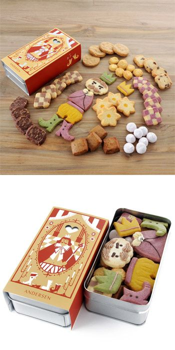 fairy tales cookies....copy. make ginger cookie pieces, ice and place in tin for a piece together present of deliciousness.