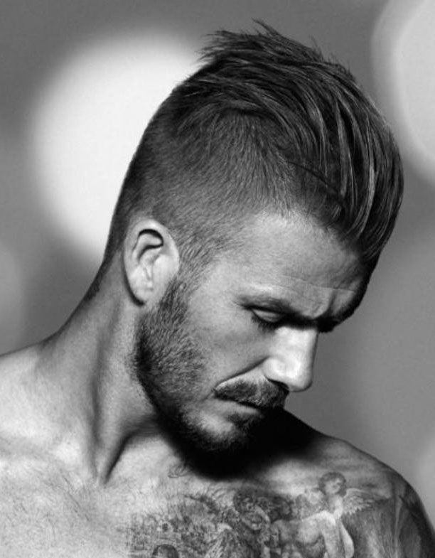 David Beckham coupe undercut homme