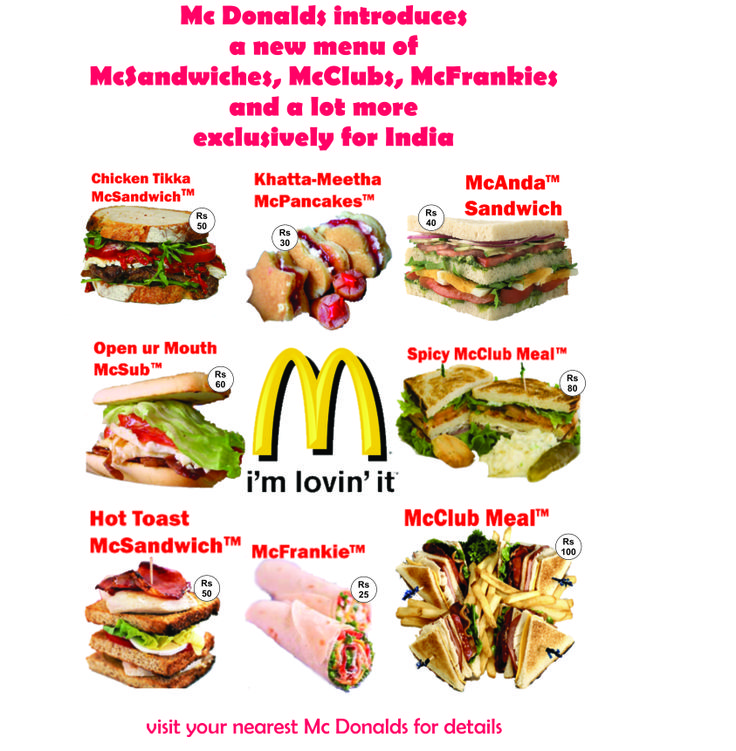 Mc Donalds - New Sandwich Menu - flyer