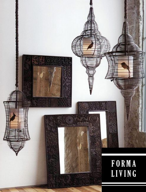 Look at these birdcages. Imagine them hanging outside in a lush green garden. And they're made from sustainable wood. Heart. Sustainable Wood, Character Sustainable, Home Furnishings, Sun Room