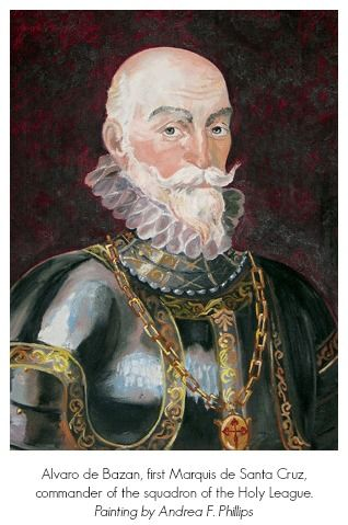 Alvaro de Bazon, the Marquis of Santa Cruz, brought up the reserve and tipped the balance in the center. By the end of the day their was no organized Turkish fleet in the Mediterranean.