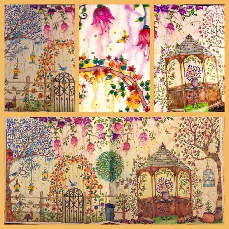 Secret Garden Coloring Book Background Best Images About Johanna Basford Gazebo On