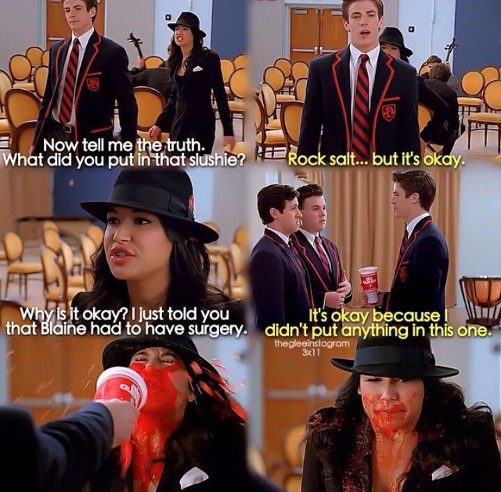 Hah. Poor Santana.. Well i still ship those too... #glee #sebtana