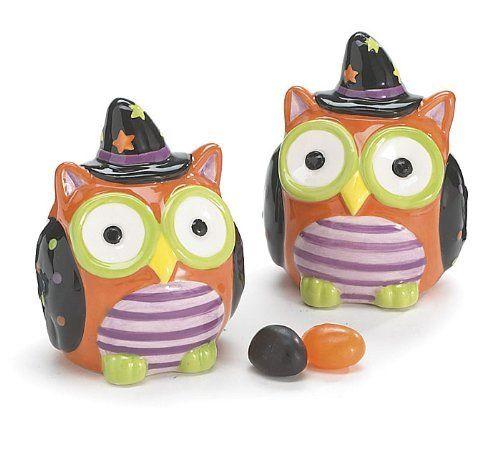 Whimsical Halloween Owl Salt And Pepper Shaker Set Adorable Halloween Decor  By Burton U0026 Burton. Part 41