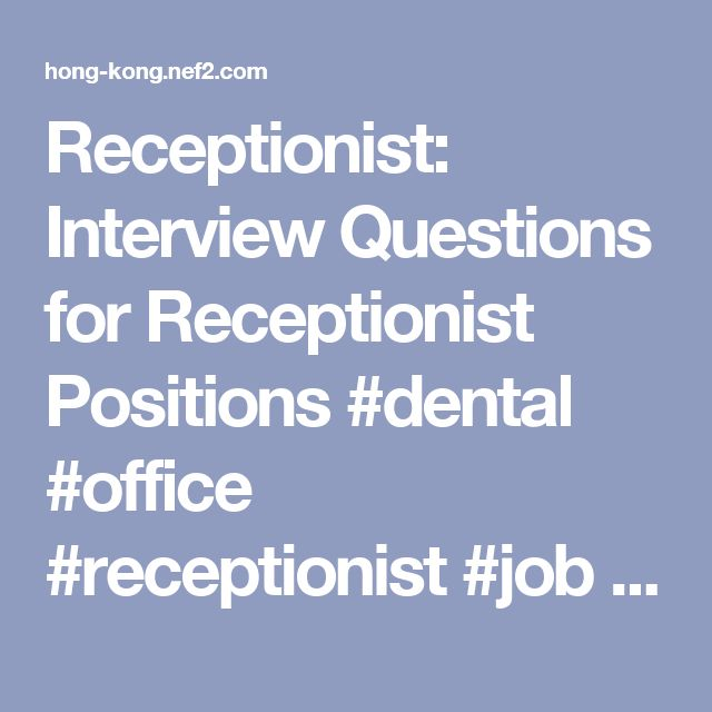Best Receptionist Jobs Ideas On   Application For