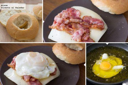 Muffins ingleses con huevo y bacon - 2