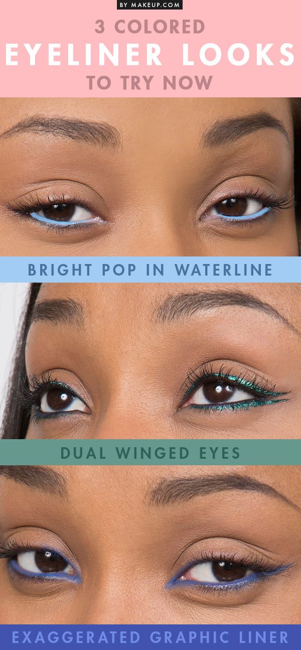 If black eyeliner is your thing, then it's time to switch up your eye makeup routine! Pick up some colored liner to add a pop of color to your complexion. Try out these looks to learn how to add some drama to your daily makeup.