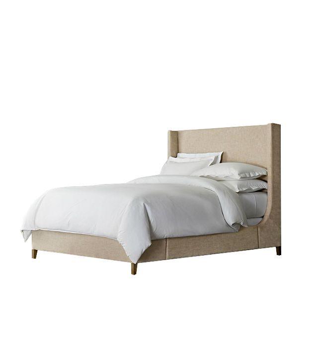 Restoration Hardware Grayson Fabric Sleigh Bed