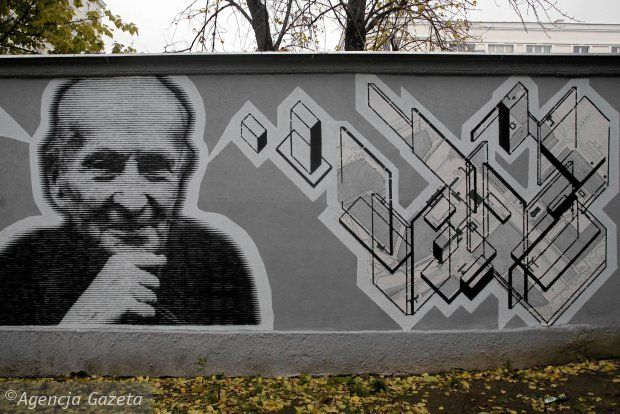 Mural poświęcony Bohdanowi Lachertowi odsłonięto na Muranowie 18 października