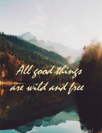 All good things are wild and free. -Henry D. Thoreau  http://abouthenrydavidthoreau.com/?p=75