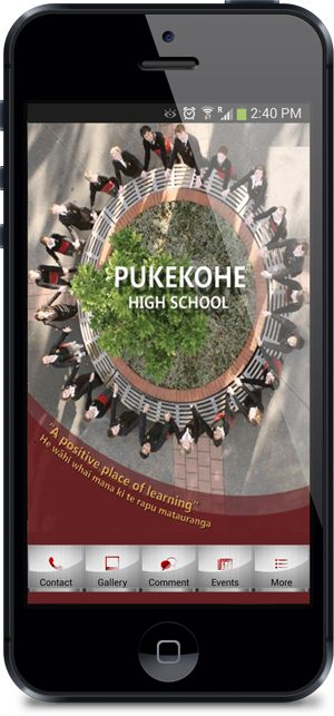 Mobile App for Pukekohe High School Created by MobileAppFx